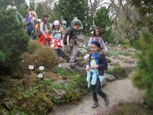 Botanischer Garten - bei der Forschung
